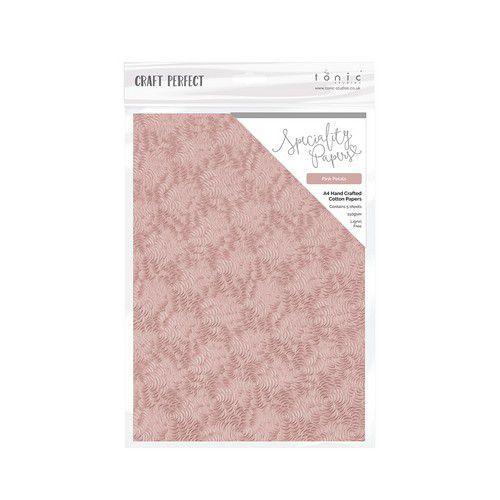 Tonic Studios handmade paper - Pink Petals A4 5 vl 9884E (11-19)
