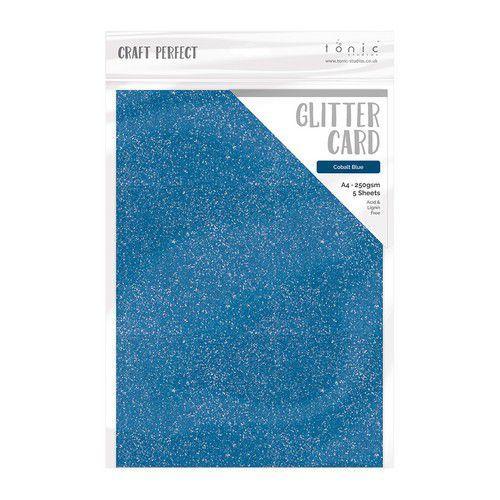 Tonic Studios glitter karton - Cobalt Blue A4 5 vl 9953E (11-19)