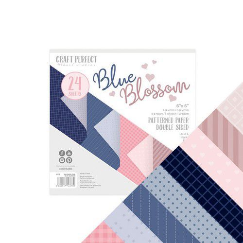 Tonic Studios Craft P. 6x6 Paper Pack Blue Blossom 5vl 9377E (11-19)