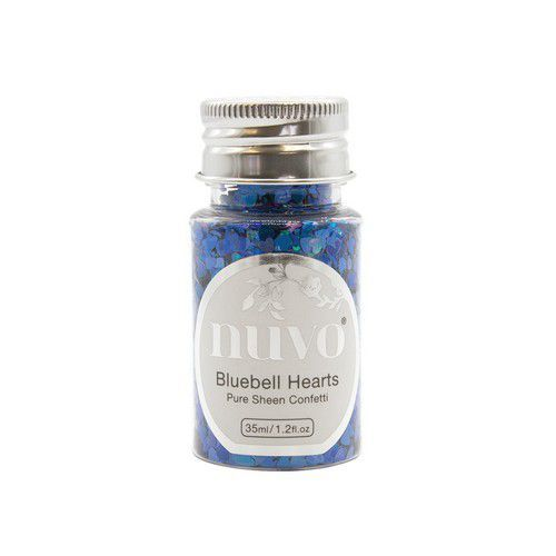 Nuvo Pure sheen confetti - bluebell heartss 35ml 1070N (11-19)