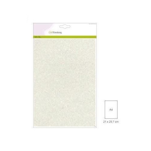 CraftEmotions glitterpapier 5 vel champagne +/- 29x21cm 120gr
