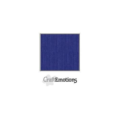 CraftEmotions linnenkarton 10 vel saffierblauw LHC-56 A4 250gr