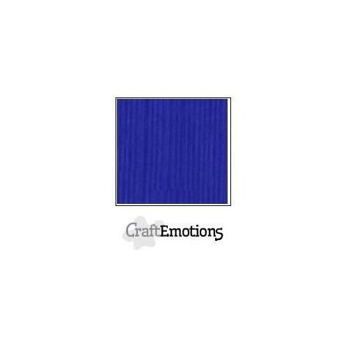 CraftEmotions linnenkarton 10 vel kobaltblauw LHC-55 A4 250gr