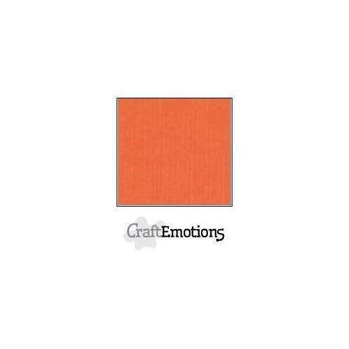 CraftEmotions linnenkarton 10 vel oranje LHC-23 A4 250gr