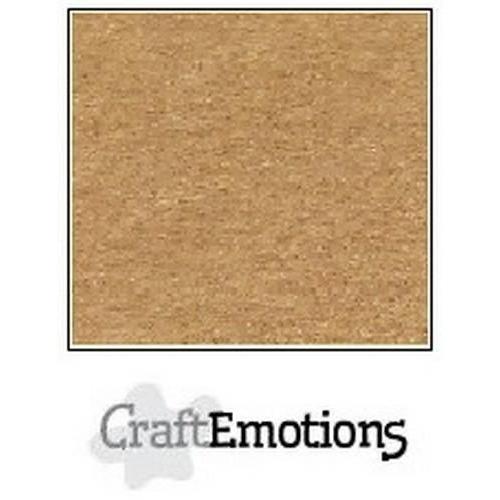 CraftEmotions karton kraft lichtbruin 10 vel 30,5x30,5cm  220GR