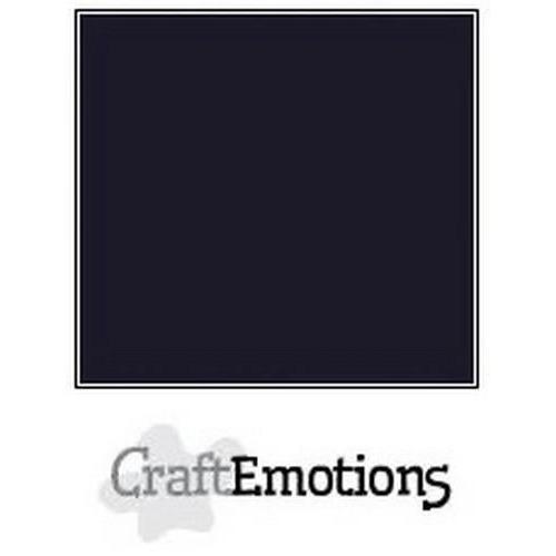 CraftEmotions karton glad 10 vel zwart SC-58 A4 250gr