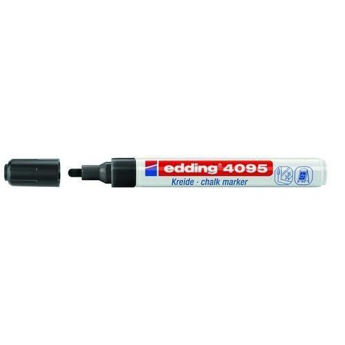 edding-4095 kalk / window marker zwart 10ST  2-3 mm / 4-4095001