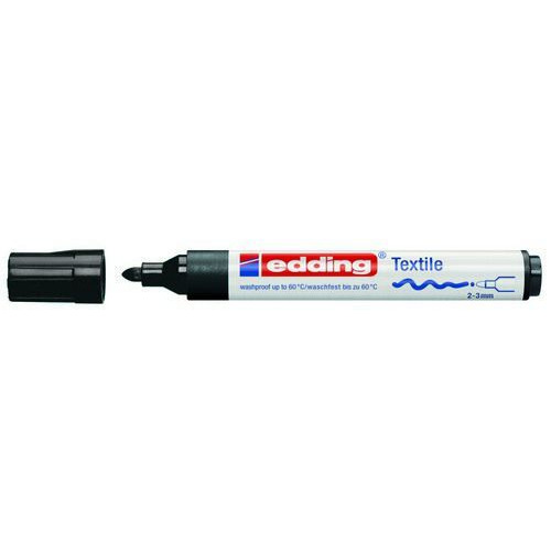 edding-4500 textielmarker zwart 10ST 2-3 mm / 4-4500001