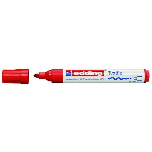 edding-4500 textielmarker rood 10ST 2-3 mm / 4-4500002