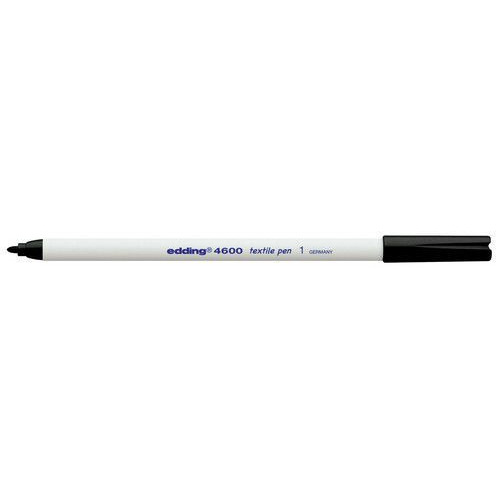 edding-4600 textielpen zwart 10ST 1 mm / 4-4600001