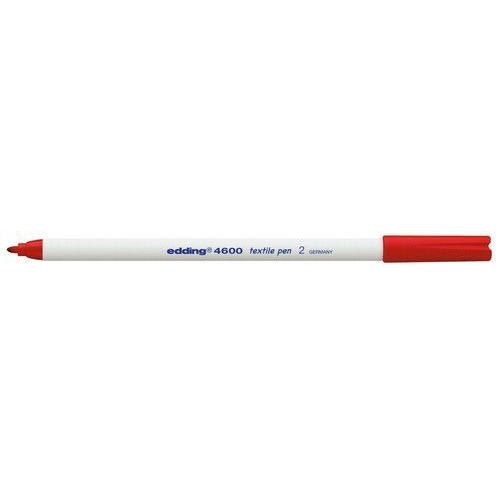 edding-4600 textielpen rood 10ST 1 mm / 4-4600002