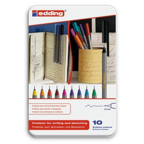 edding-55 ass. fineliner  10ST 0,3 mm / 4-55-10