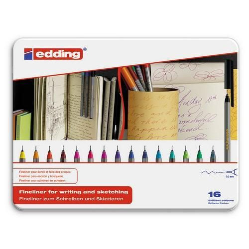 edding-55 ass. fineliner  16ST 0,3 mm / 4-55-16