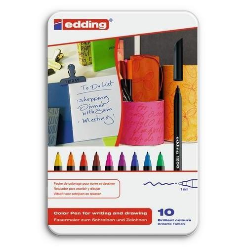edding-1200 ass. teken/kleur stift  10ST 0,5-1 mm / 4-1200-10