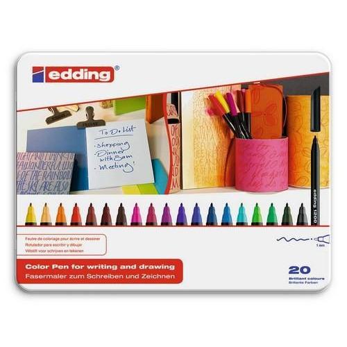 edding-1200 ass. teken/kleur stift  20ST 0,5-1 mm / 4-1200-20