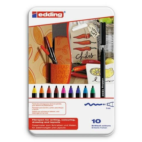 edding-1300 ass. tekenstift   10ST 3 mm / 4-1300-10