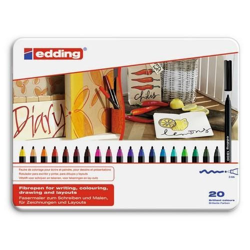 edding-1300 ass. tekenstift   20ST 3 mm / 4-1300-20