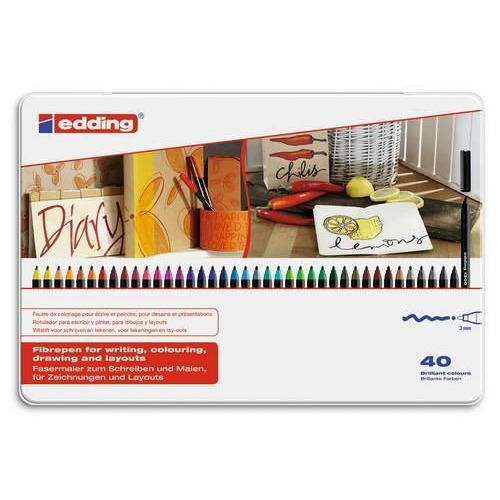 edding-1300 ass. tekenstift  40ST 3 mm / 4-1300-40
