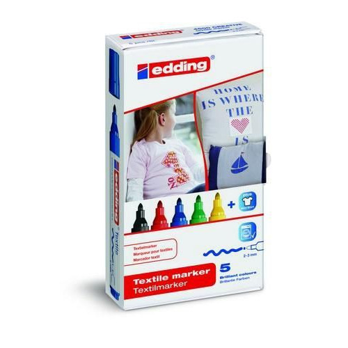 edding-4500 ass. textielmarker basis  5ST 2-3 mm / 4-4500-5