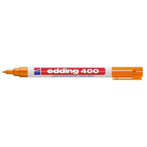 edding-400 permanent marker oranje  1ST 1 mm /  4-400006