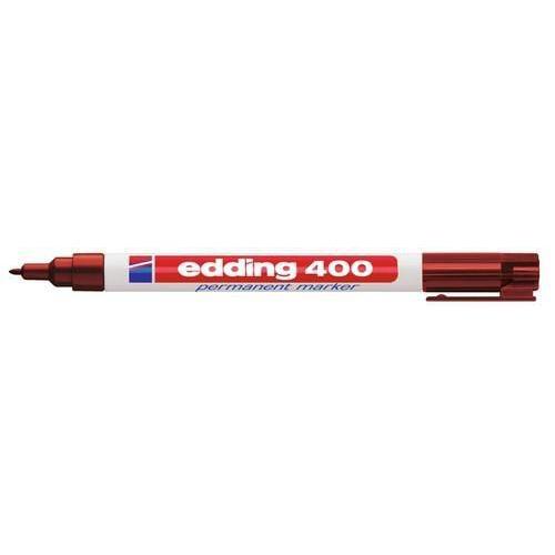 edding-400 permanent marker bruin  1ST 1 mm /  4-400007