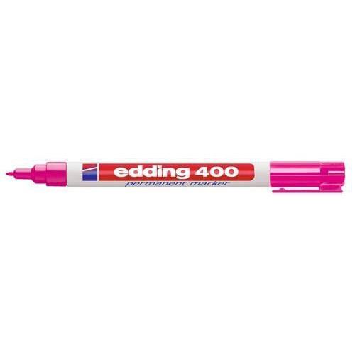 edding-400 permanent marker roze  1ST 1 mm /  4-400009