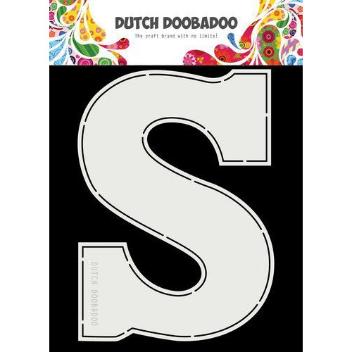 Dutch Doobadoo  Card Art A5 Chocolade letter 'S' (NL) 470.713.753 (11-19)