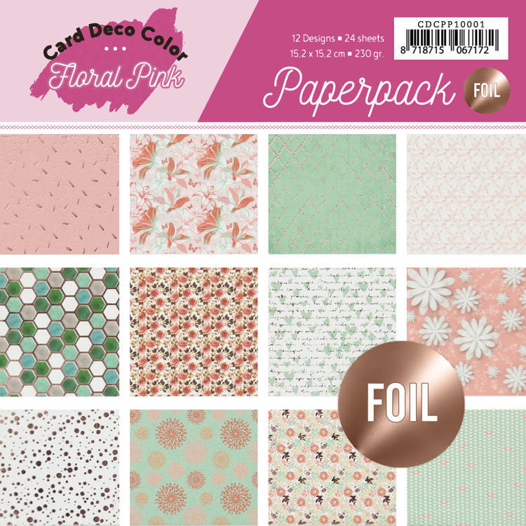 Foiled Paperpack - Yvonne Creations - Floral Pink
