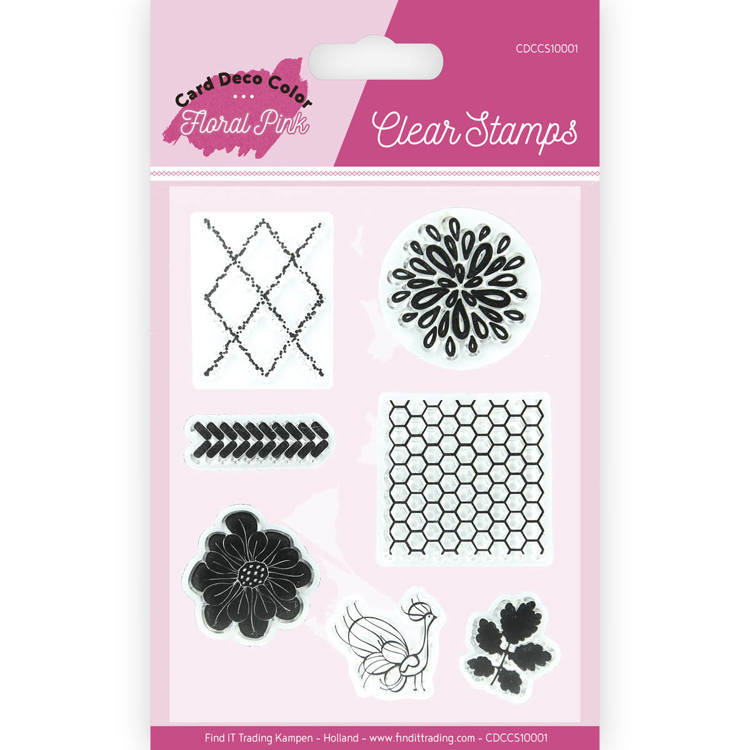 Clear Stamps - Yvonne Creations - Floral Pink