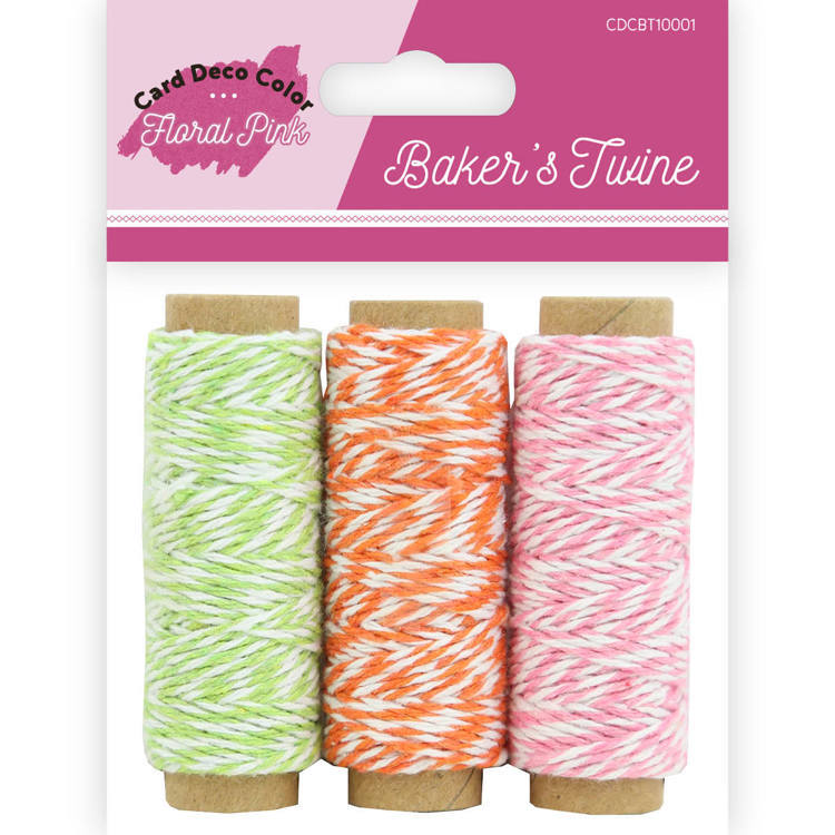 Bakers Twine - Yvonne Creations  - Floral Pink