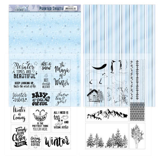 Mica Sheets - Amy Design - Winter Friends