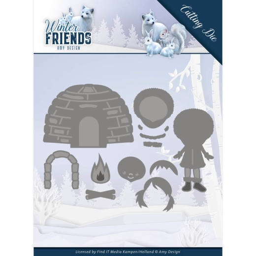 Dies - Amy Design - Winter Friends - Eskimo