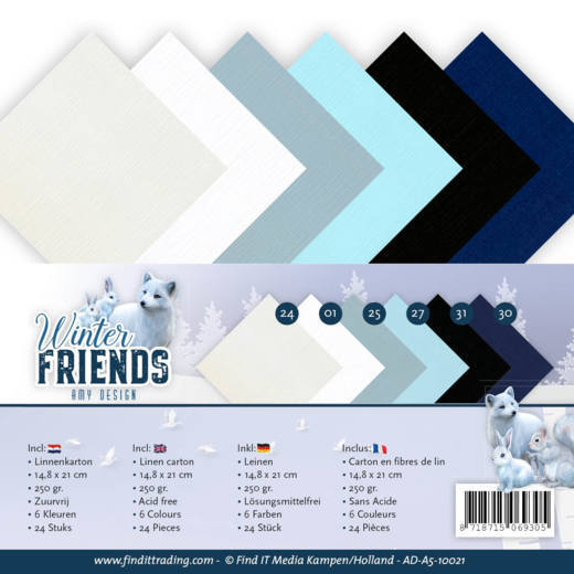 Linnenpakket - A5 - Amy Design - Winter Friends