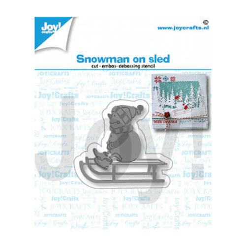 Sneeuwpop op slee