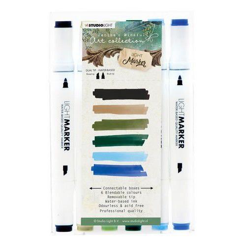 Studio Light Box 6 water based dual tip markers Jenine's Mindful Art MARKERJMA01 (12-19)