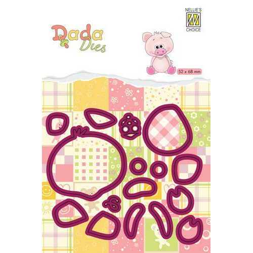 Nellie's Choice DADA Farm Die - animals - varken DDD019 52x68mm (11-19)