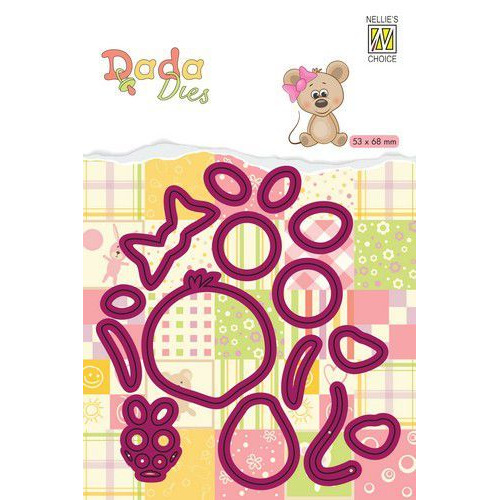 Nellie's Choice DADA Farm Die - animals - muis DDD020 53x58mm (11-19)