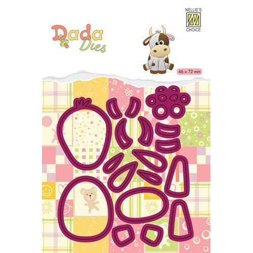 Nellie's Choice DADA Farm Die - animals - koe DDD021 46x72mm (11-19)