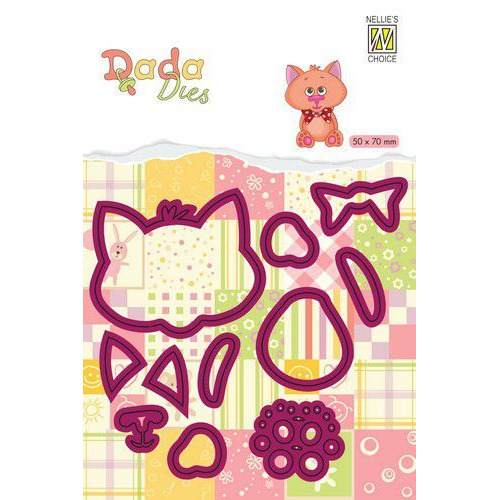 Nellie's Choice DADA Farm Die - animals - kat DDD022 50x70mm (11-19)