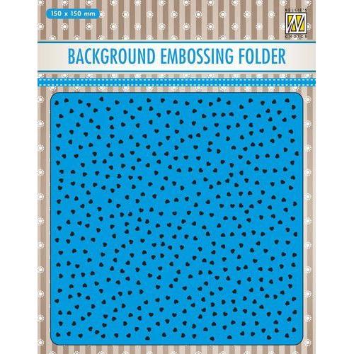 Nellies Choice Emb.folder Achtergrond kleine hartjes EEB027 150x150mm (11-19)