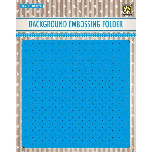 Nellies Choice Emb.folder Achtergrond kleine dots EEB028 150x150mm (11-19)