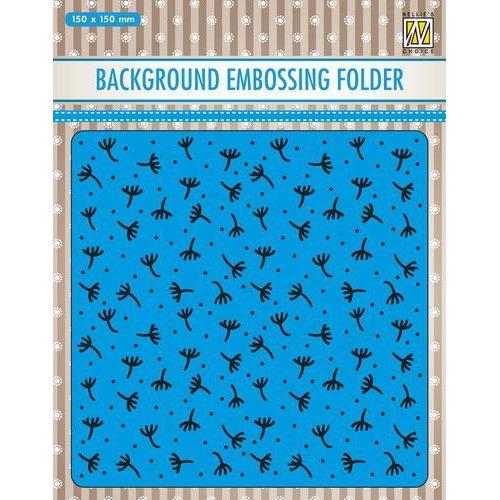 Nellies Choice Emb.folder Achtergrond Fluff-pluis EEB029 150x150mm (11-19)