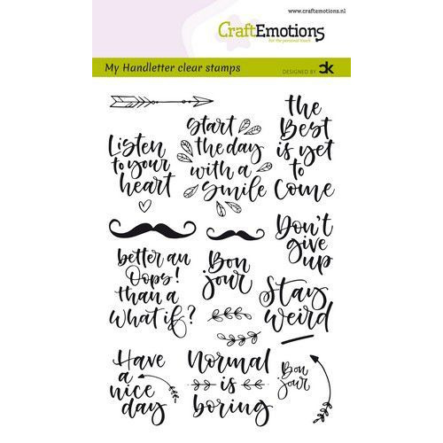 CraftEmotions clearstamps A6 - handletter -  Quotes 1 (Eng) Carla Kamphuis (01-20)