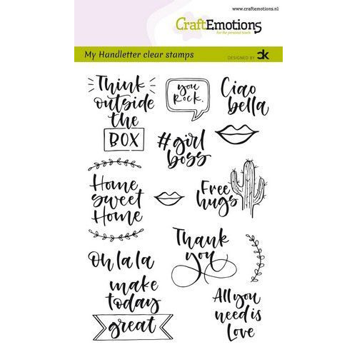 CraftEmotions clearstamps A6 - handletter -  Quotes 2 (Eng) Carla Kamphuis (01-20)