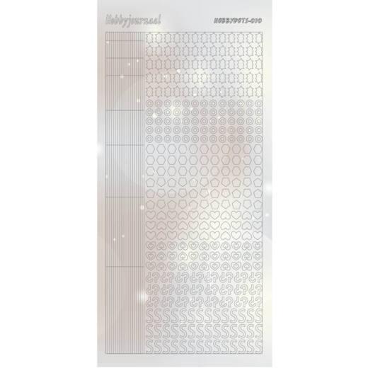 HobbydotsSticker - Pearl- 10 Silver