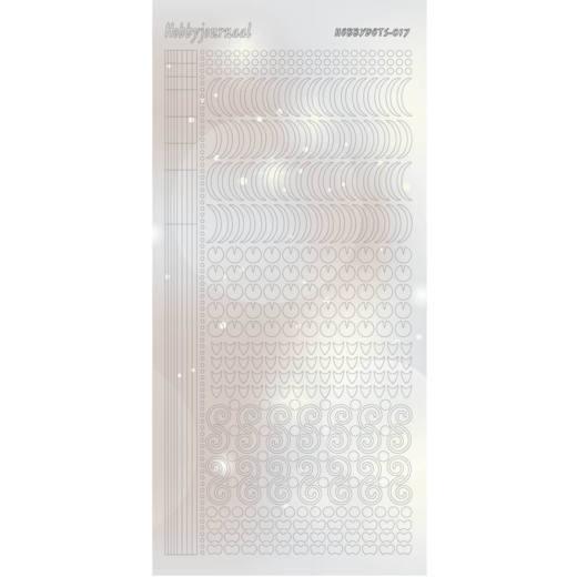 HobbydotsSticker - Pearl - 17 Silver