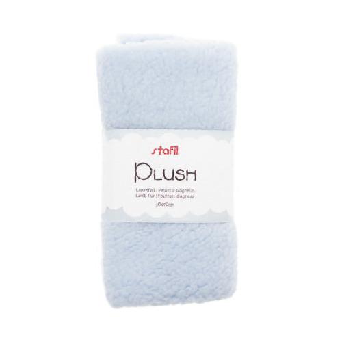 Plush, lamsvel licht blauw, 100% polyester