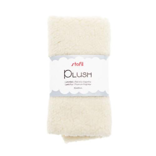Plush, lamsvel beige, 100% polyester
