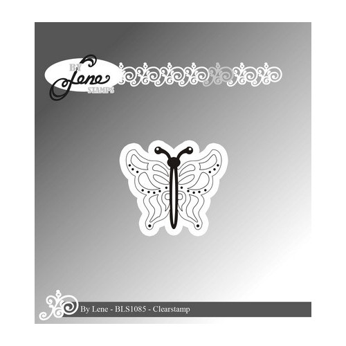 By Lene Clear Stamp butterfly