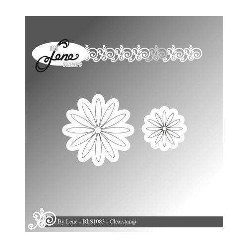 By Lene Clear Stamp daisy